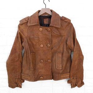 Banana Republic Leather Double Breasted Coat SZ M
